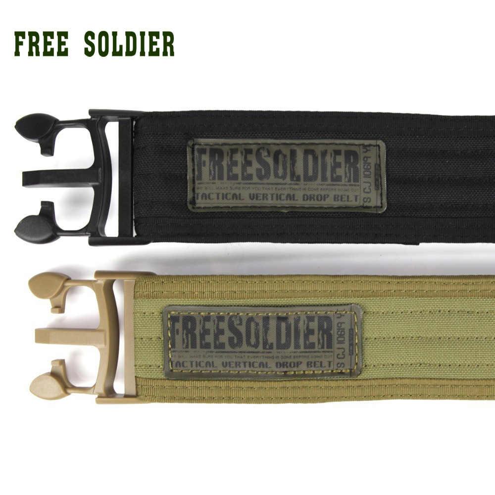 FREE SOLDIER 100% тефлон Тактический пояс  наружный мужской и женский пояс для лагери, плетеная лента Тефлон Локальная доставка