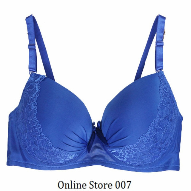 2016 New Sexy Lace Bralette Solid Full Cup Adjusted Straps Underwire Push Up Bra Plus Size Underwear Women Ga1