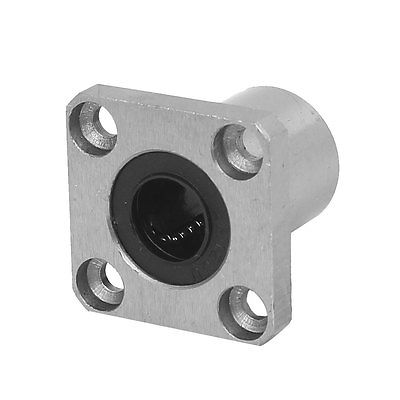LMK12UU 12mm Inner Dia Square Flange Mount Linear Motion Ball Bearing lmh12uu 12mm inner dia oval flange mounted linear motion bushing ball bearing