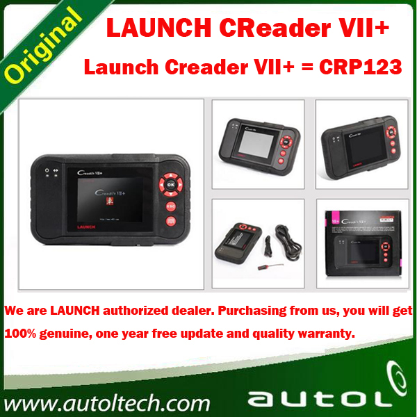 [Launch Distributor] Launch X431 Creader VII+ 7 Plus OBDII EOBD Electronic Control System ABS SRS Tool Equal To Creader CRP123