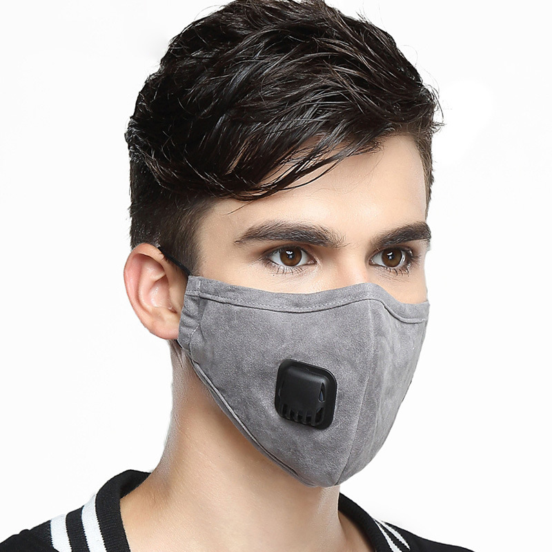 1Pcs Men Active Carbon Mask Medical Fabric Anti Dust Face Mask PM2.5 Mouth-muffle Bacteria Face Masks