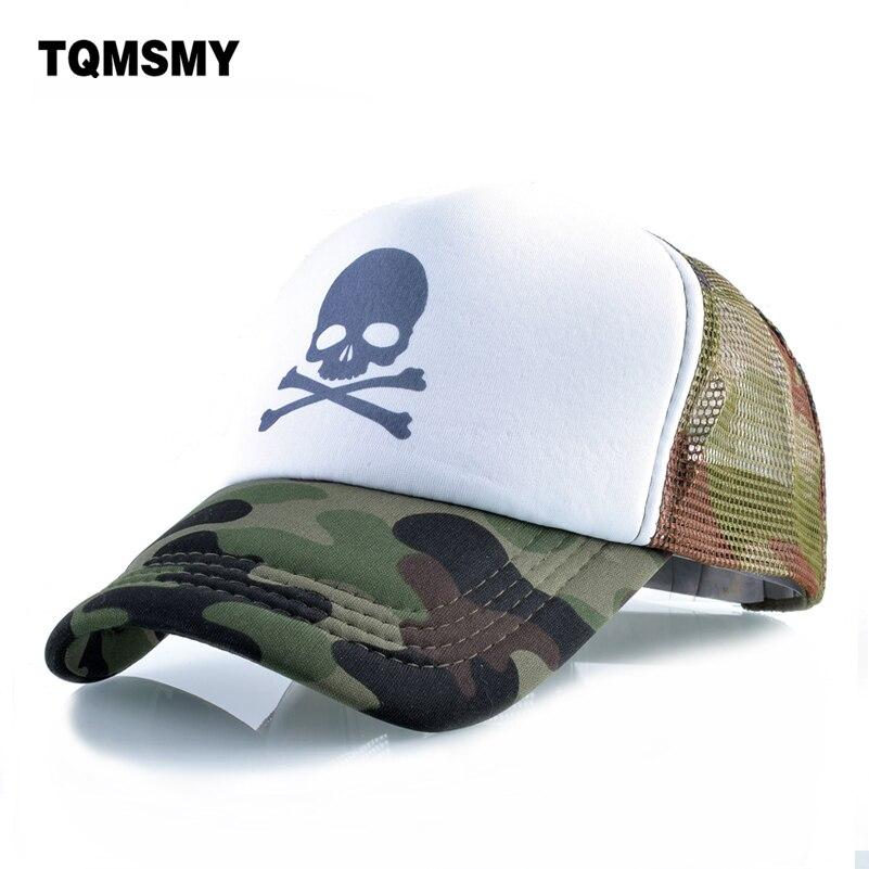 Unisex bone Skull pattern Baseball cap men Hip Hop caps women Snapback Caps Breathable mesh sun hats for women's Casquette
