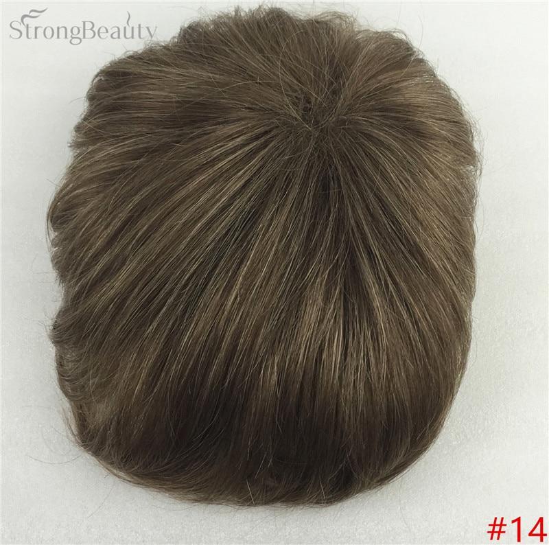 Сильная красота парик синтетические волосы парик выпадение волос топ кусок парики 36 цветов на выбор - Цвет: #14