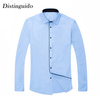 2018 New Arrival Solid Color Smart Casual Long Sleeves Turn Down Collar Formal Dress Shirts Wedding