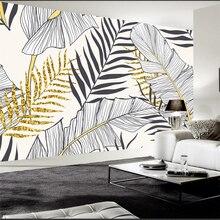 beibehang papel parede  Custom wallpaper  Modern minimalist tropical rain forest plant banana leaf garden mural background wall