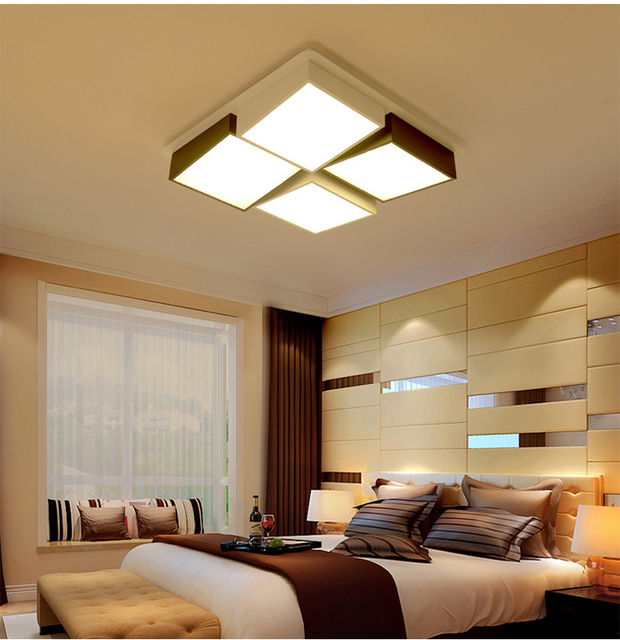 Creative Square Ceiling Lamp Flush Mount Ceiling Light Abajur Para Sala  Iluminacion Led Techo Plafonnier Salle De Bain