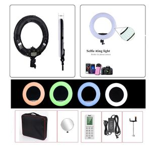 Image 1 - Yidoblo rgb app control ring light led vídeo luz beleza unha pele fotografia estúdio anel lâmpada + tripé + kit de bolsa