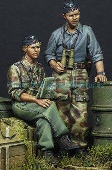 1:35 deutsch Panzer Crew im Sommer Set (2 Zahlen)