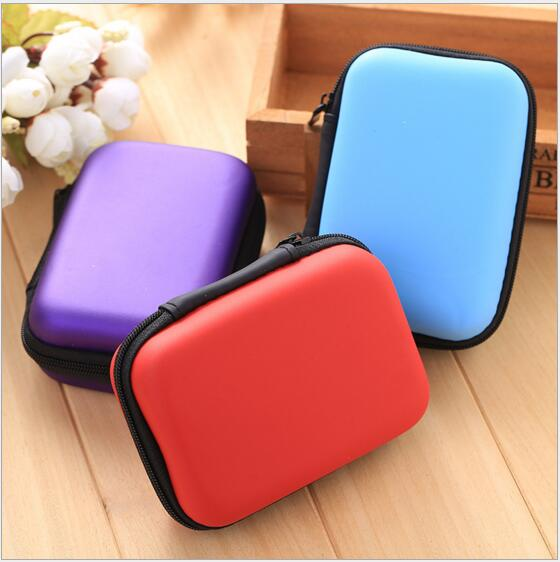Solid Mini Square Rectangle Change Purse Earphone Pouch Case #981 Coin Purse Gift Pouch For Girls Boys