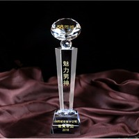 Customized Glass Honor Medals Crystal Diamond Trophy Sports Events Awards Personalized Competitions Souvenirs Match Champion Cup