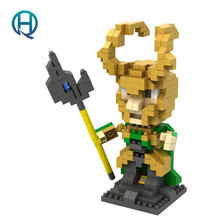 Mini Nano Blocks Super Heroes LOZ Building Blocks Loki Action Figure Diamond Blocks Compatible Legoelieds 9449