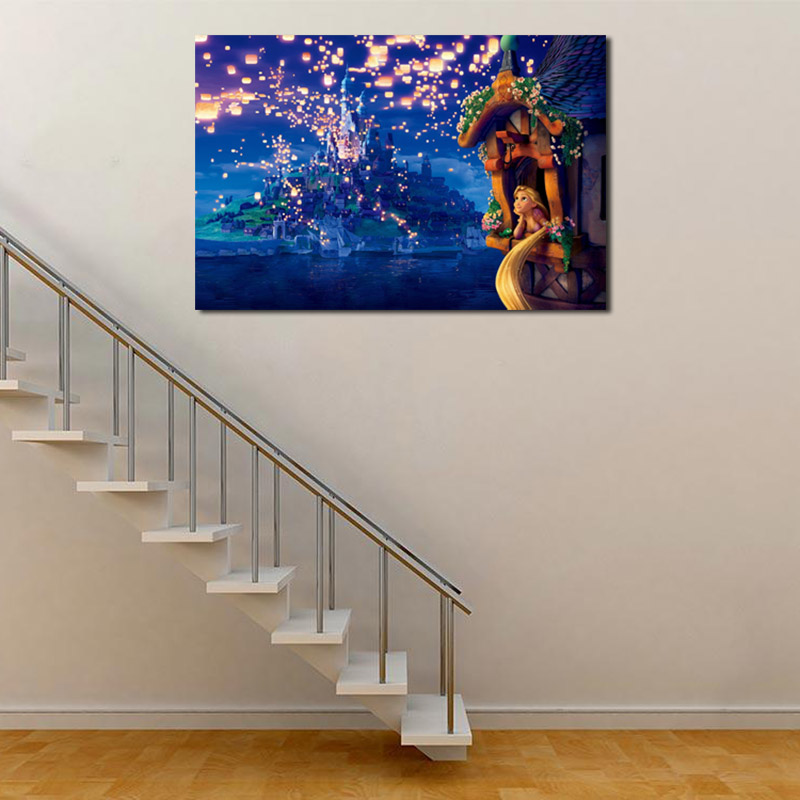 Tangled Rapunzel Wallpaper Canvas Posters Prints Wall Art Painting Decorative Picture Bedroom Modern Home Decoration Accessories in Painting Calligraphy from Home Garden