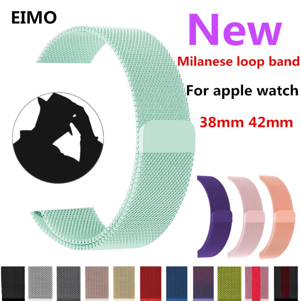Milanese Loop Strap For Apple Watch band 42mm 38mm Iwatch series 3 2 1 Stainless Steel Link Bracelet Wrist Watchband Accessories milanese loop watch strap men link bracelet stainless steel woven black for apple watchband 42mm 38mm iwatch free tools