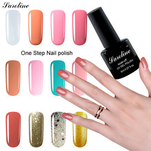 Saroline 3in1 LED UV Soak Off Gel Polish Unghie artistiche Pietra Rimovibile di Lunga Durata di Un Stepl Unghie artistiche Acrilico Set di Gel Per Unghie(China)