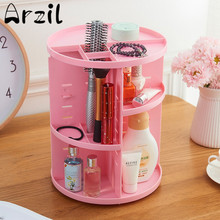 Plastic Rotating Cosmetic Box Rack Shelf Desktop Skincare Storage Box Sundries Dresser Cosmetic Organizer Storage Houseware