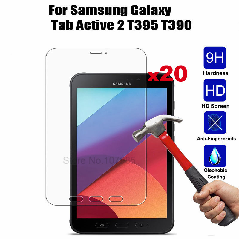 20Pcs Tempered Glass Film For Samsung Galaxy Tab Active 2 8 0 T390 T395 SM T390