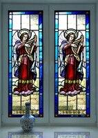 Jezus Kerk Zelfklevende Lijm Masker Scrub Venster Sticker Transparant Opaque Badkamer Schuifdeur Zonwering Venster Sticker