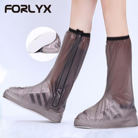 FORLYX Waterproof Rain Reusable Shoes Covers For Rainy Day Non Slip Men Women S Boot Overshoes