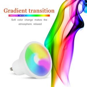 Image 4 - 4Pcs GU10 Rgb Lampen Bombillas Led 8W GU10 Rgbw Rgbww Led Lamp Dimbaar Wit Warm Wit Gu 10 led Lamp 16 Kleuren Met Afstandsbediening