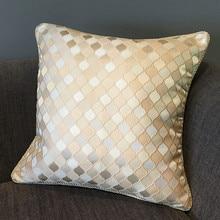 2016 Modern Geometric Check Zigzag Jacquard Woven Polyester Cotton Cushion Cover Decorative Pillow Case