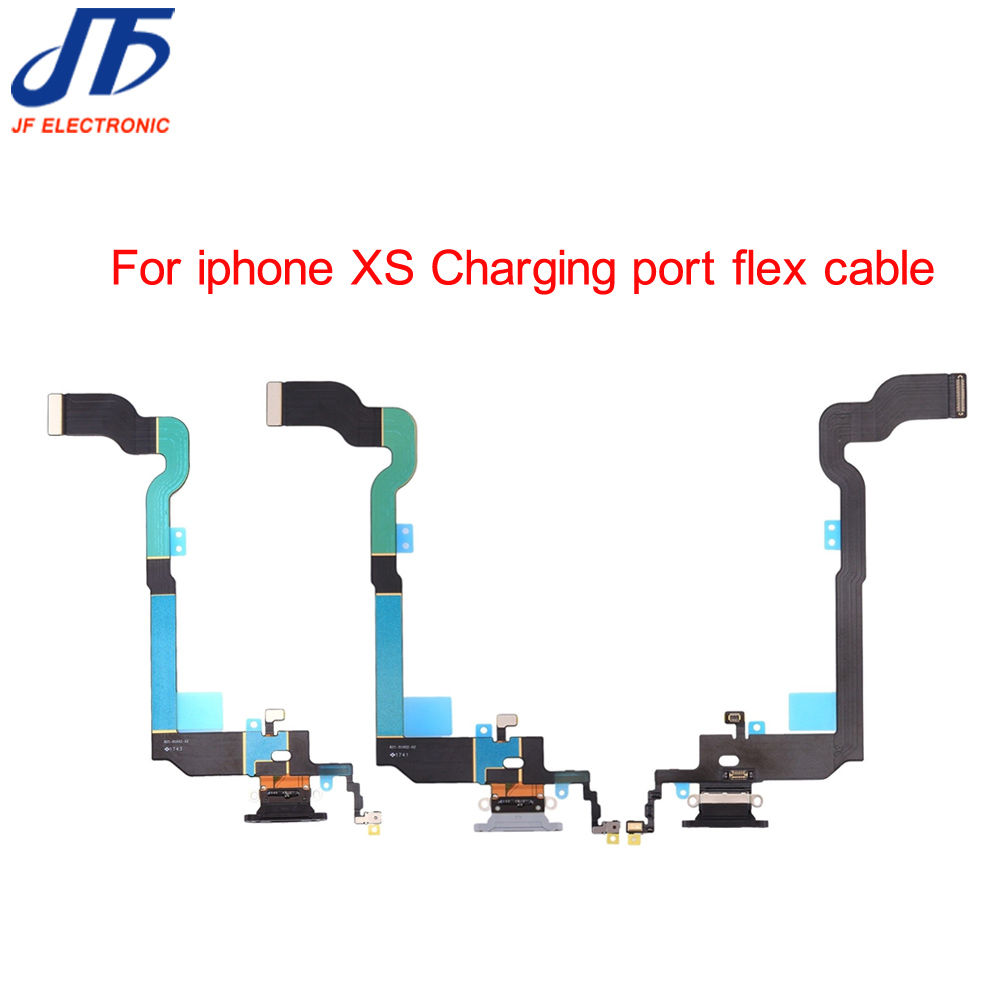 New Charging Charger Dock Connector Plug Port Flex Cable Ribbon For iPhone XS Replacement Parts 10pcs