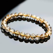 Genuine Natural Brazil Gold Rutilated Titanium Quartz Crystal Woman Man 9mm Gemstone Round Beads Bracelet Jewelry Bangle AAAA недорого