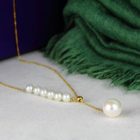 gorgeous 4.5 8mm south sea white round pearl 18k gold necklace pendant 18inch
