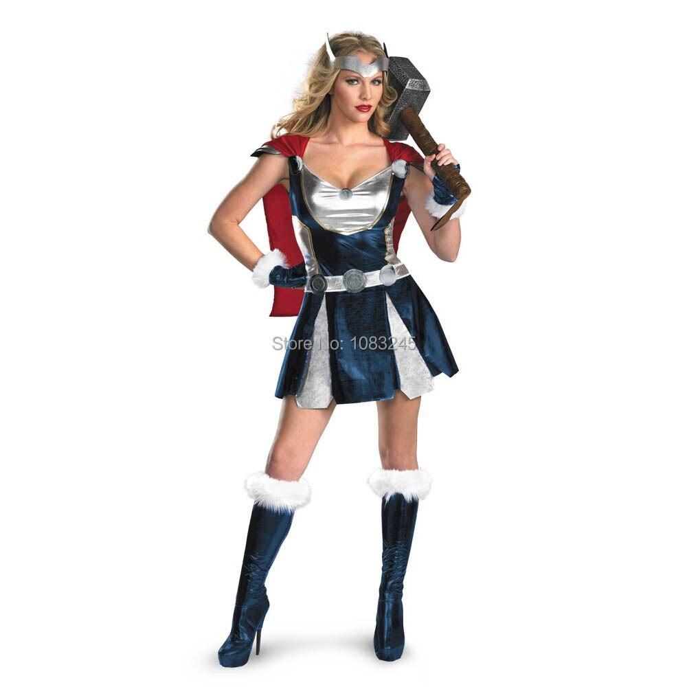 Hot Selling Disfraces Infantiles Infantil Women's Marvel Avengers Thor Girl Sassy Adult Sexy Halloween Costume
