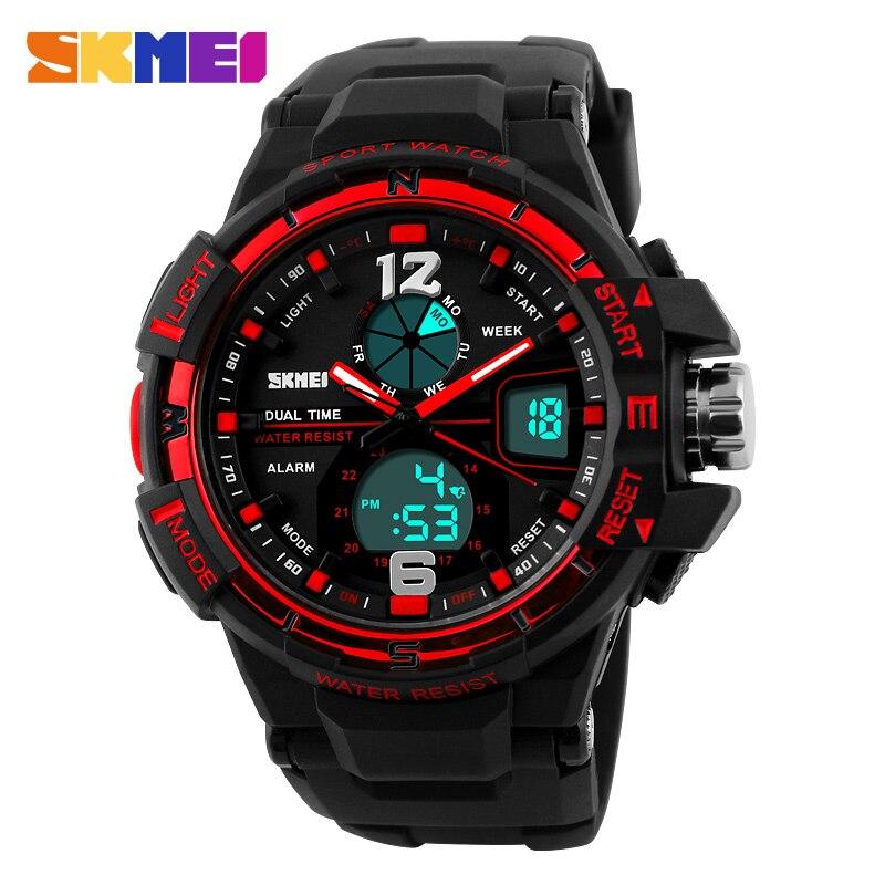 SKMEI Outdoor Military Watches 30m Waterproof Analog Quartz Digital Multifunction Student Sport Watch Men's Wristwatches цена 2017