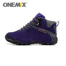 Original ONEMIX Women Hiking Shoes Waterproof Wool Lining Sneakers Outdoor Zapatillas Mujer Deportivas Anti Slip Free Ship
