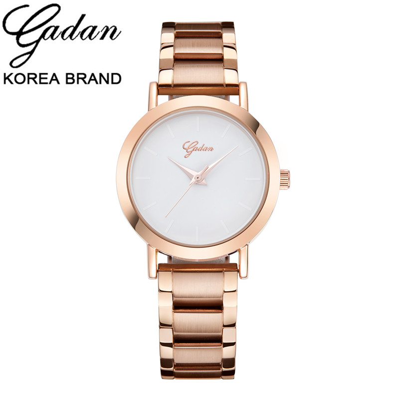YADAN Brand Woman Relojes Quartz watches Full Rose Gold Steel band Business Casual Lady Clock Wristwatches Gift Montre Femme цены онлайн