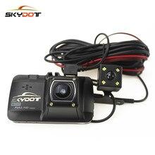 """Skydot 3.0 """"Автомобильный видеорегистратор регистратор с двумя объективами регистраторы Full HD 1080 P видеорегистратор с двумя камерами blackbox ночного видения dashcam"""