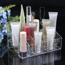 24 Grids Acrylic Makeup Organizer Storage Box Cosmetic Box Lipstick Jewelry Box Case Holder Display Stand Make Up Organizer