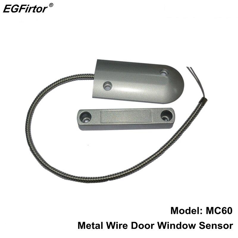 De sécurité De Porte Câblé Capteur Interrupteur Rouleau Magnétique Alarme Capteur Induction Porte Magnétique Contact Changer Normale Fermer Sortie