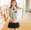 2016 hot British korean japanese school uniform men and women winter clothing for school uniforme escolar costume for girl