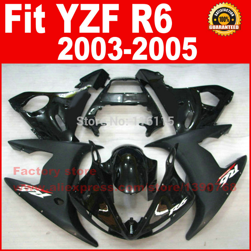 NEW HOT Body parts for YAMAHA R6 fairing kits 2003 2004 2005 Matte Glossy black YZF R6 fairing kit 03 04 05 mfs motor motorcycle part front rear brake discs rotor for yamaha yzf r6 2003 2004 2005 yzfr6 03 04 05 gold