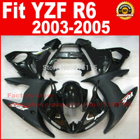 NEW HOT Body parts for YAMAHA R6 fairing kits 2003 2004 2005 Matte Glossy black YZF R6 fairing kit 03 04 05