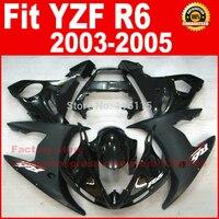 NEW HOT Body parts for YAMAHA R6 fairing kits 2003 2004 2005 Matte Glossy black YZF R6 fairing kit 03 04 05
