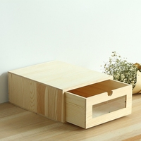 Wooden Desk Organizer A4 Paper Bill Office Stationary/Files Storage Box Eco Friendly No Paint Wood Storage Drawers