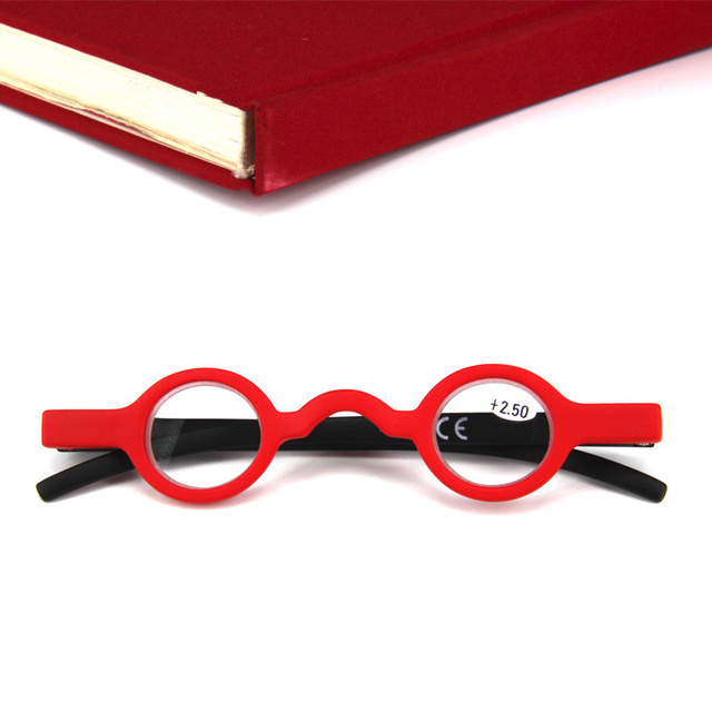 2018 Small Reading Glasses Men Women Round Frame Presbyopic Glasses Vintage Black Red Glasses Frame Round Reading Glasses