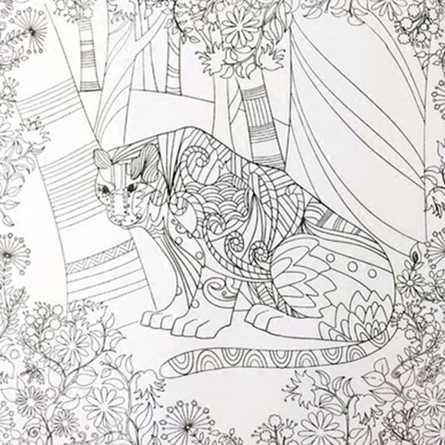 Online Shop The Enchanted Forest Book Coloring Books For Adults