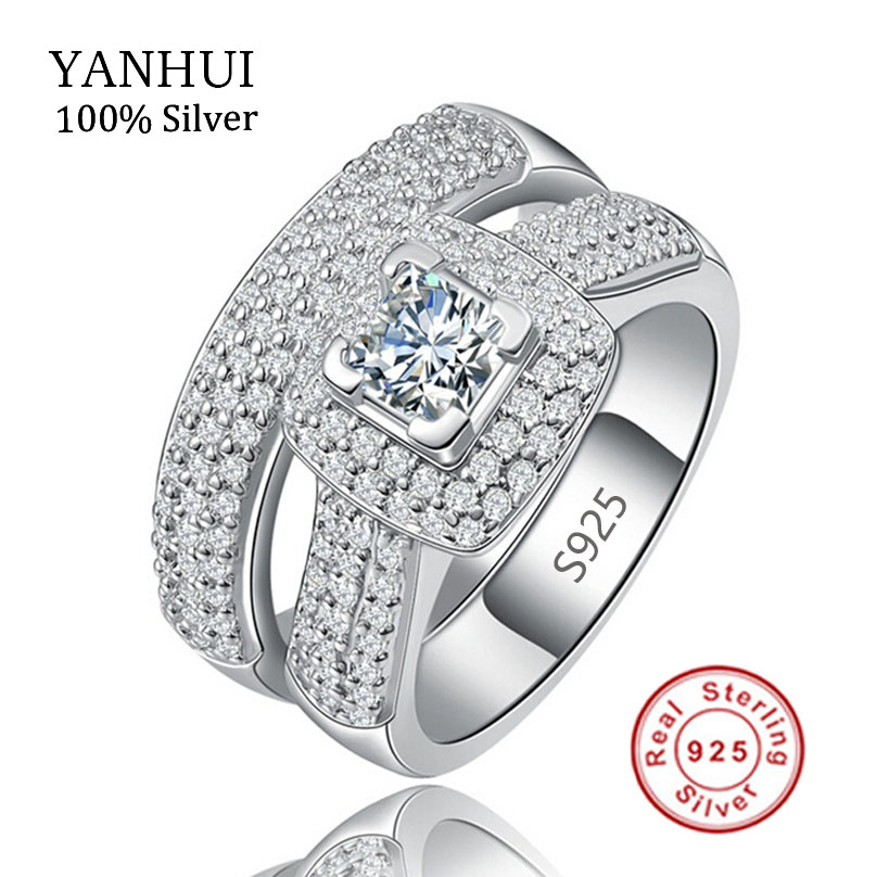 Luxury Solid 925 Sterling Silver Bridal Wedding Anniversary Engagement Ring Set Sona 1 Ct Created Diamant Ring Jewelry JZR149