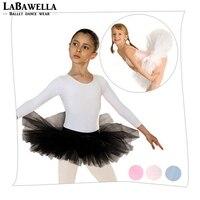 White Children Kids 4layers Of Tulle Practicing Ballerina Dress Fluffy Half Skirt Ballet Tutu Dress For