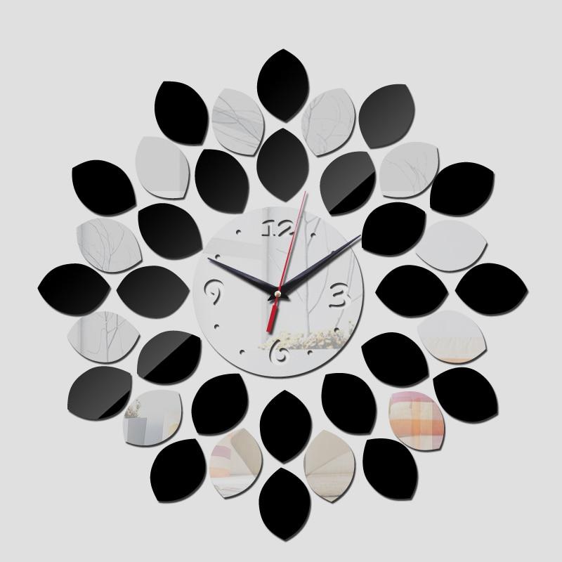New Arrival 2019 Promotion Hot Wall Stickers Quartz Acrylic Clock Modern Design Luxury Mirror 3d Crystal Clocks