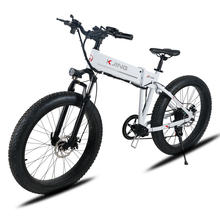 26inch snow ebike electric mountain bicycle folding frame fat tires 48V li-ion battery 350w high speed motor off-road bicycle