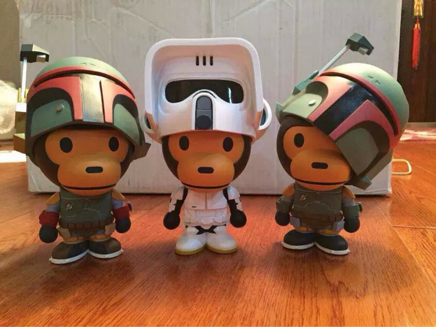 1pc 25cm Star Wars BABY MILO COS Star Wars Detective Soldier PVC Action Figures Collectible Model Toy fashion star wars toys for kids high quality plastic action figures baby milo bape model dolls brand gifts myj001