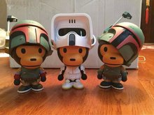 1pc 25cm Star Wars BABY MILO COS Star Wars Detective Soldier PVC Action Figures Collectible Model Toy