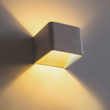 Indoor  Lamp 5W LED Wall Lamp Indoor Surface Mounted Cube LED Wall Light White/Black Up And Down Wall Light 7w led outdoor ac 85 268v wall lamp decoration indoor cube led wall light aluminum white black up