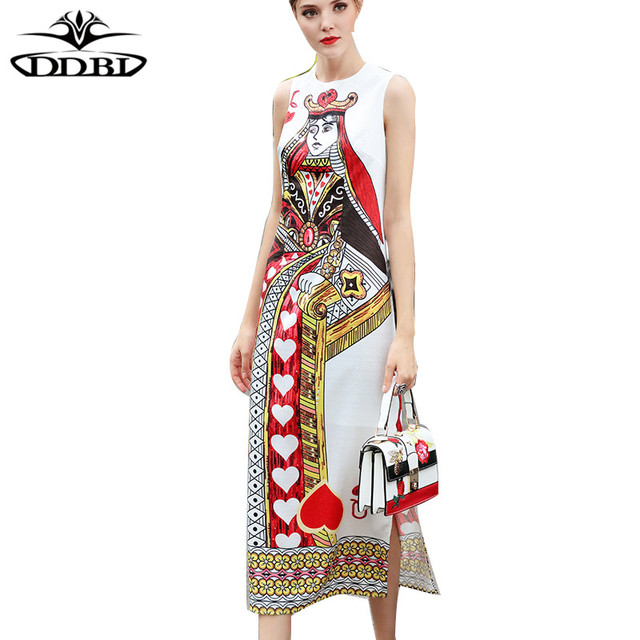 queen print dress white printed dress 2018 high quality runway dresses for  women 171028 268b99488