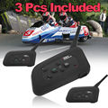 Free shipping!3x BT Bluetooth Motorcycle Helmet Interphone Intercom Headset V6 1200M 6 Riders